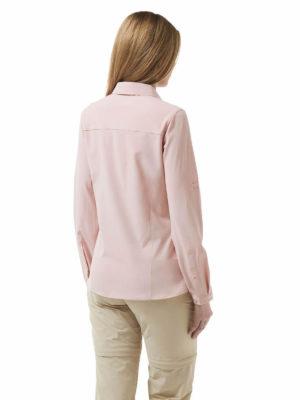CWS412 Craghoppers NosiLife Pro Shirt - Blossom Pink - Back