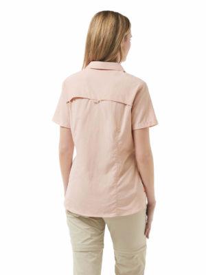 CWS435 Craghoppers NosiLife Adventure Shirt - Blossom Pink - Back