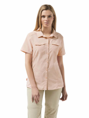 CWS435 Craghoppers NosiLife Adventure Shirt - Blossom Pink - Front