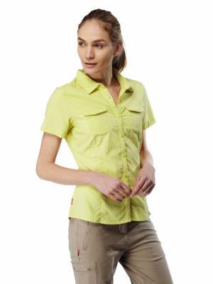 CWS435 Craghoppers NosiLife Adventure Shirt - Limeade - Front
