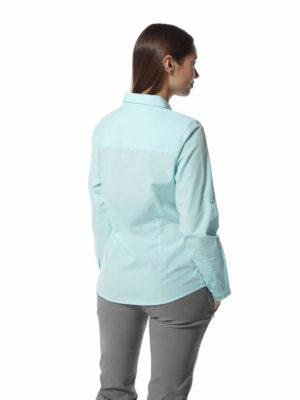 CWS462 Craghoppers NosiDefence Kiwi Shirt - Capri Blue - Back