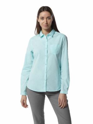 CWS462 Craghoppers NosiDefence Kiwi Shirt - Capri Blue - Front