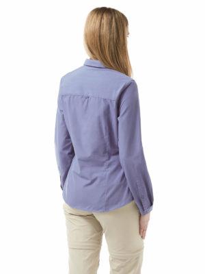 CWS462 Craghoppers NosiDefence Kiwi Shirt - China Blue - Back