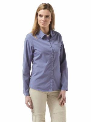 CWS462 Craghoppers NosiDefence Kiwi Shirt - China Blue - Front