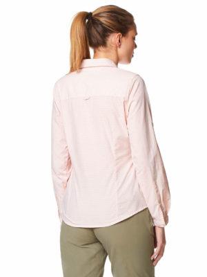 CWS467 Craghoppers NosiLife Adoni Shirt - Blossom Pink - Back