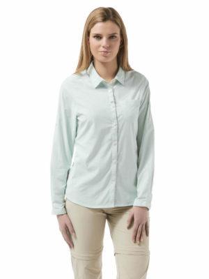 CWS467 Craghoppers NosiLife Adoni Shirt - Seaspray - Front