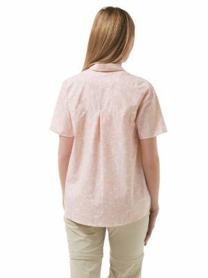 CWS476 Craghoppers NosiLife Silla Shirt - Blossom Pink - Back
