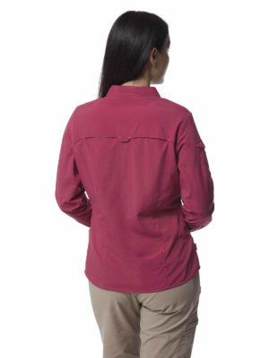 CWS482 Craghoppers NosiLife Adventure Shirt - Amalfi Rose - Back