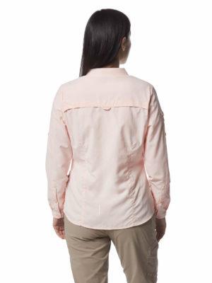 CWS482 Craghoppers NosiLife Adventure Shirt - Seashell Pink - Back