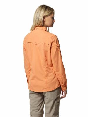 CWS482 Craghoppers NosiLife Adventure Shirt - Soft Apricot - Back