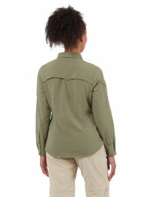 CWS482 Craghoppers NosiLife Adventure Shirt - Soft Moss - Back