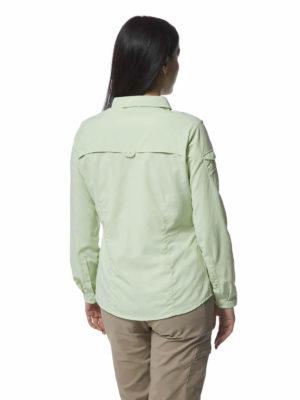 CWS482 Craghoppers NosiLife Adventure Shirt - Soft Pistachio - Back