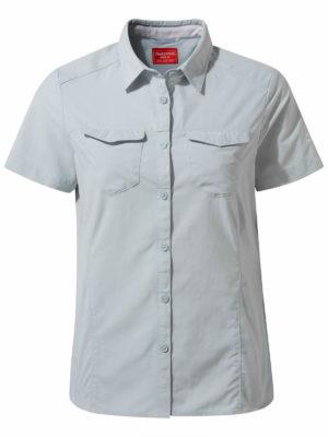 CWS484 Craghoppers NosiLife Adventure Shirt - Mineral Blue