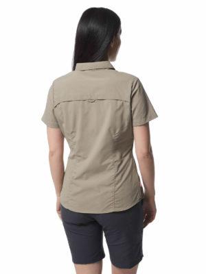 CWS484 Craghoppers NosiLife Adventure Shirt - Mushroom - Back