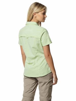 CWS484 Craghoppers NosiLife Adventure Shirt - Soft Pistachio - Back