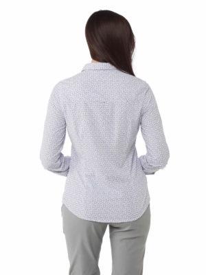 CWS491 Craghoppers NosiLife Gisele Shirt - Paradise Blue - Back