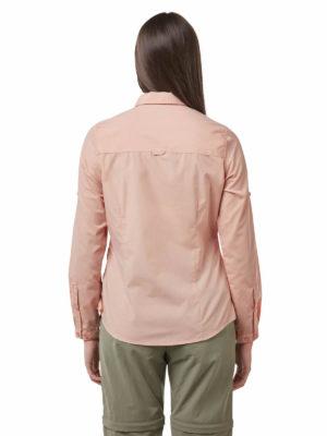 CWS496 Craghoppers NosiDefence Kiwi Shirt - Corsage Pink - Back
