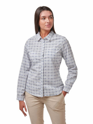 CWS496 Craghoppers NosiDefence Kiwi Shirt - Galaxy Blue - Front