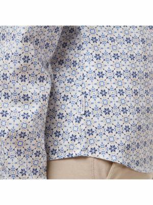 CWS496 Craghoppers NosiDefence Kiwi Shirt - Galaxy Blue Print