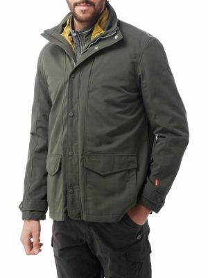 CMN180 Craghoppers NosiLife Desert RFID Jacket - Dark Khaki - Front