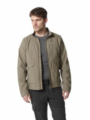 CMN222 Craghoppers NosiLife Varese Jacket - Pebble - Front
