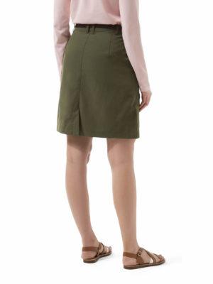 CWD007 Craghoppers NosiLife Miro Skirt - Parka Green - Back
