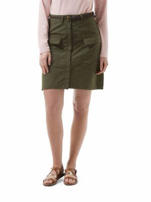 CWD007 Craghoppers NosiLife Miro Skirt - Parka Green - Front
