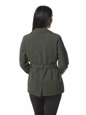 CWN234 Craghoppers NosiLife Lucca Jacket - Dark Khaki - Back