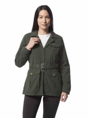 CWN234 Craghoppers NosiLife Lucca Jacket - Dark Khaki - Front