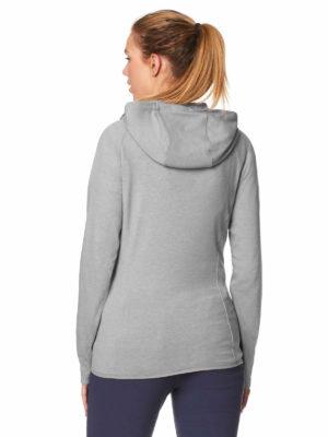 CWT1205 Craghoppers NosiLife Sydney Hooded Jacket - Soft Grey Marl - Back