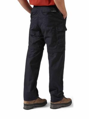 CMJ107 Craghoppers NosiDefence Kiwi Convertible Trousers - Black - Back