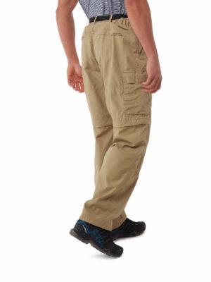 CMJ107 Craghoppers NosiDefence Kiwi Convertible Trousers - Raffia - Back