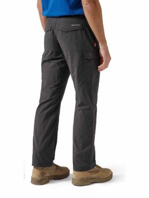 CMJ367 Craghoppers NosiLife Cargo Trousers - Black Pepper - Back