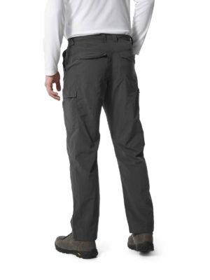 CMJ498 Craghoppers NosiLife Cargo Trousers - Black Pepper - Back