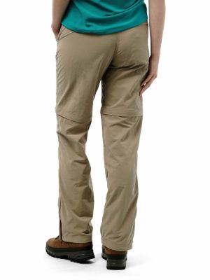 CWJ1110 Craghoppers NosiLife Convertible Trousers - Mushroom - Back