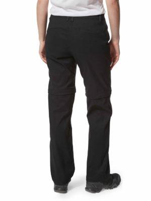 CWJ1203 Craghoppers Kiwi Pro Convertible Trousers - Black - Back