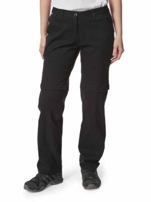 CWJ1203 Craghoppers Kiwi Pro Convertible Trousers - Black - Front