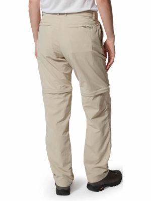 CWJ1214 Craghoppers NosiLife Convertible Trousers - Desert Sand - Back