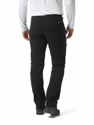 CMJ495 Craghoppers SmartDry Kiwi Pro Convertible Trousers - Black - Back