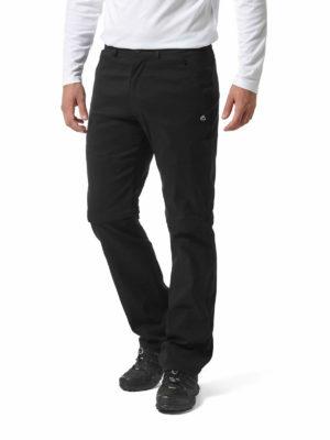 CMJ495 Craghoppers SmartDry Kiwi Pro Convertible Trousers - Black - Front