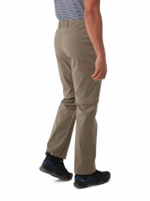 CMJ495 Craghoppers SmartDry Kiwi Pro Convertible Trousers - Pebble - Back