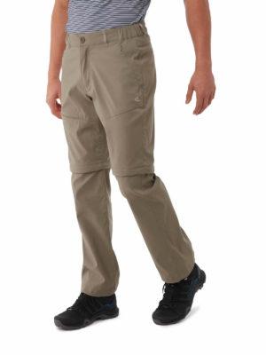 CMJ495 Craghoppers SmartDry Kiwi Pro Convertible Trousers - Pebble - Front