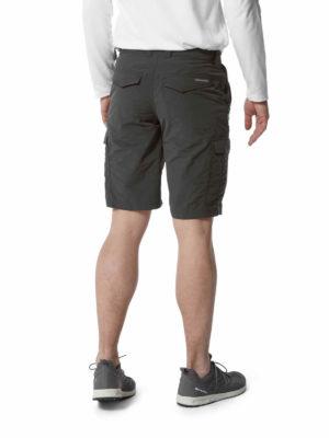 CMJ502 Craghoppers NosiLife Cargo Shorts - Black Pepper - Back