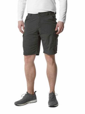 CMJ502 Craghoppers NosiLife Cargo Shorts - Black Pepper - Front