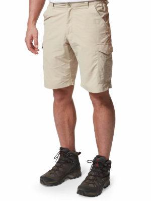 CMJ502 Craghoppers NosiLife Cargo Shorts - Desert Sand - Front