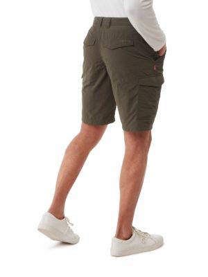 CMJ502 Craghoppers NosiLife Cargo Shorts - Woodland Green -Back