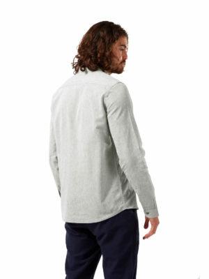 CMS648 Craghopper NosiBotanical Harford Shirt - Sage Marl - Back