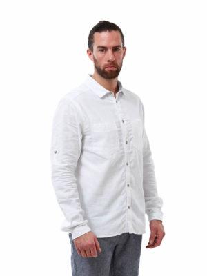 CMS653 Craghoppers NosiBotanical Villar Shirt - White - Front