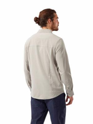 CMS659 Craghoppers NosiLife Hedley Shirt - Parchment - Back
