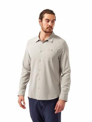 CMS659 Craghoppers NosiLife Hedley Shirt - Parchment - Front